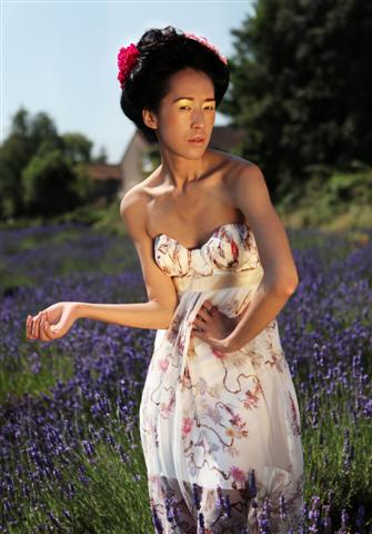 Person in Lavender Field